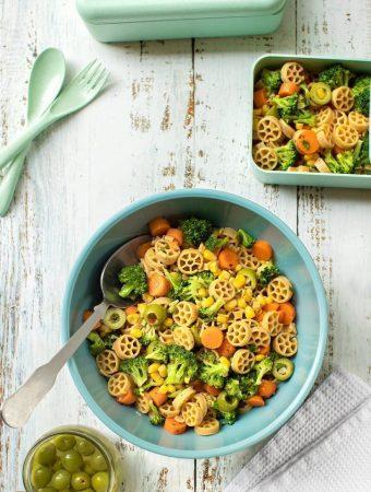 lunch box pasta salad (vegan)