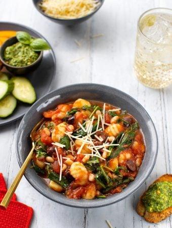 vegan Gnocchi with beans & greens