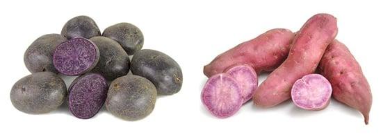 Purple potatoes & purple yams