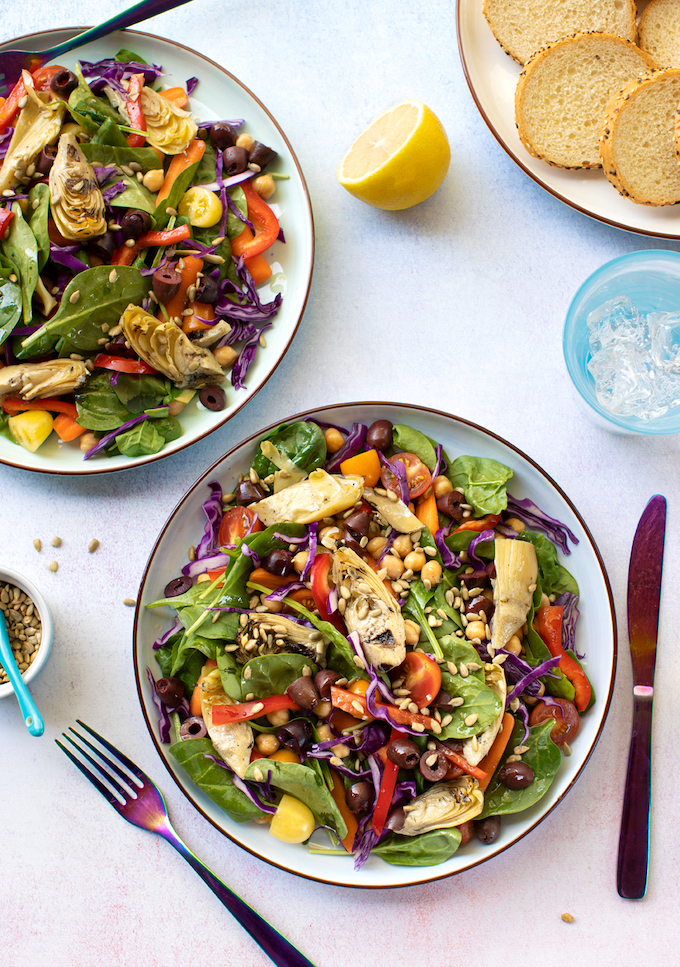 Artichoke and Spinach Salad