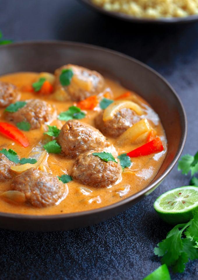 Vegan Thai Coconut Curry Meatballs recipe